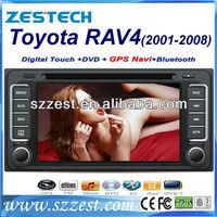 ZESTECH DVD Supplier 2 Din Touch screen Car Dvd for Toyota RAV4 Car Dvd With Gps Navigation System Bluetooth TV Ipod 2001-2008