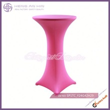wholesale cheap fancy bright red cocktail table covers bar table cover wholesale manufacturer