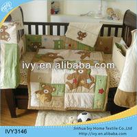 3D cot bedding set name brand bedding