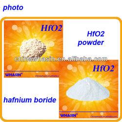 hafnium dioxide powder used for the production of metallic hafnium and hafnium alloy materials