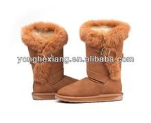 2015 winter children long wool high top snow boot hot sale