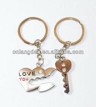 Fashion oem metal gun keychain for gifts