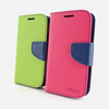 with Card Slots Concinnity Contrast Color Leather Folio Wallet Case for Samsung Galaxy S4 i9500