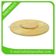 Bamboo lazy susan rotating tray