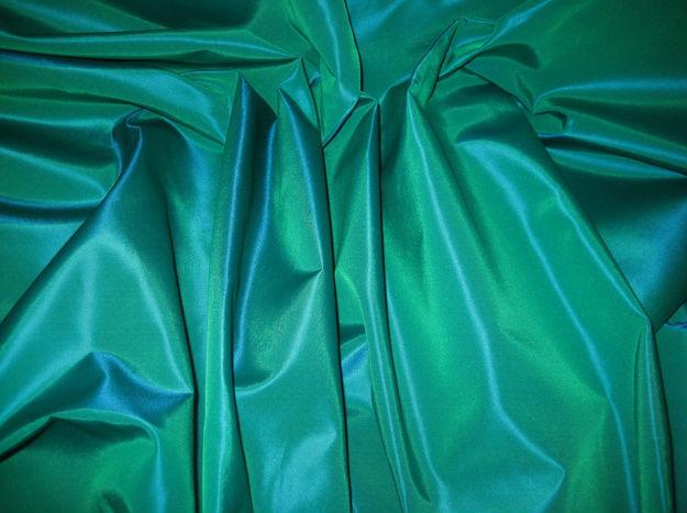 Green/Royal Blue Iridescent Two Tone Poly Nylon Taffeta Fabric .