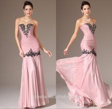 JM.Bridals CY2348 New model Mermaid Beaded Appliques Chiffon Long evening dress 2014