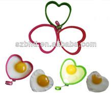Food Grade Kitchen Cooking Tool Heart Shape Silicone Egg Steamer/Egg Cooker/Egg Ring
