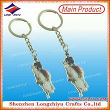 Custome Design tennis racket key chain