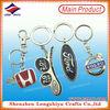 Customized metal racing car logo leather key chains