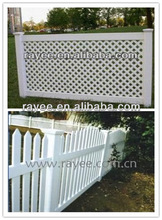 good quality pvc lattice fence trellis supplied by RAYEE