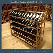 beauty design wooden hanging wine glass rack