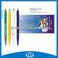 Buenas piezas de la promoción profesional de la pluma de la bandera, publicidad de la bandera de la pluma, bolígrafo retráctil de publicidad de la pluma