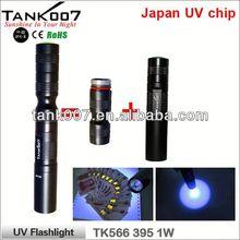2014 SHENZHEN factory TANK007 TK566 395nm 1W smiling shark flashlight/ a86