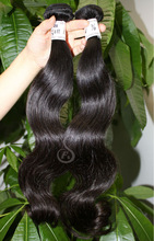 6 grade natural color mixed length permanent body wave hair extension