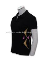 Womens Black Polo Shirts with Organic Cotton