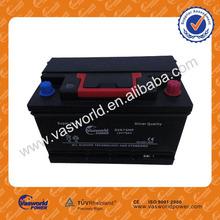 Korean car battery promotion DIN75 12V75AH MF electric battery price