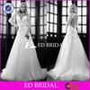 XL835 deep v neckline lace long sleeve sexy open back 2014 real sample wedding dress
