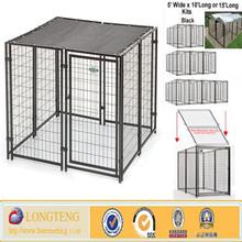 Black steel welded mesh outdooor dog kennel