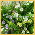 Flor artificial decorativa en centro de mesa, artificial gerbera daisy flor cabezas, flor artificial de estambre