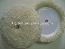"""6'' and 7"""" and 8""""single side velcro wool buffing pad"""