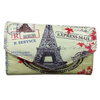 2014 New Designer Retro Clutch Purse Eiffel Tower Printing Wallet Wholesale Price In Stock