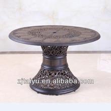 round aluminum table/garden table/leisure home