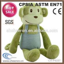 Promotional gift custom logo soft stuffed monkey