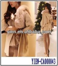 New Christmas Warm Keeping Coat European Wool Women White Fur Coat