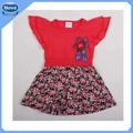 h3976p nova do algodão laço especial crianças vestido menina de flor do reino unido