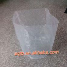 transparent sew round bottom bag