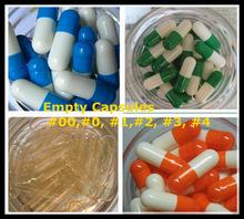 Pharmaceutical Gelatine/Vege Empty Capsules size00#,0#,1#,2#,3#,4#