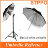 "Lightweight Folding Umbrella Photography Black White Umbrella 40"" 101cm Photo Umbrella"