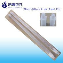 "24"" Plastic Clear Towel bar"
