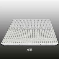 aluminum perforated ceiling tiles/aluminum truss/beveled mirror tiles