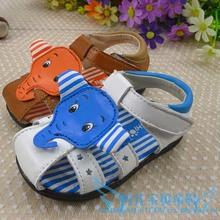 TSZ9015 China manufacturer wholesale kids shoes elephant style newest leather baby sandals on sales