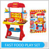 Emulational Fast Food Play Set For Kid Pretend Table With Music Play Kitchen With All Certificates