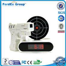 Novelty LED Digital Shooting Target Laser Gun Alarm Clock