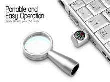 compass and magnifier usb thumb drive in any capacity