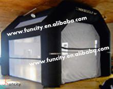 Indoor golf net for indoor golf play