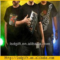 2014 new el guitar t shirt led equalizer t shirt in stock