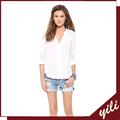 blusa branca para mulheres de meia idade gordura mulheres blusa chiffon 2014