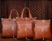 hot sale vintage elegance genuine leather hand bag for man