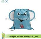 Advertising custom elephant cartoon drawstring backpack school bag