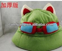 lol league of legends teemo hat plush animal winter hat