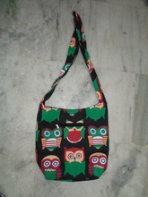 ethnic indian bags wholesale owl prints