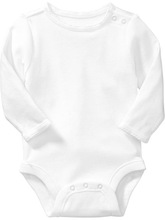 Baby plain white long sleeve romper with scalloped edges