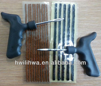 Tire seal insert string and automobile repair tools