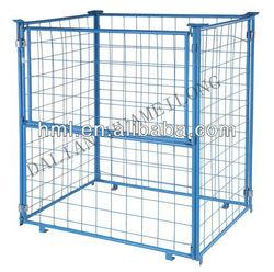 Powder coating Mesh Box Wire Cage Metal Bin Storage Container