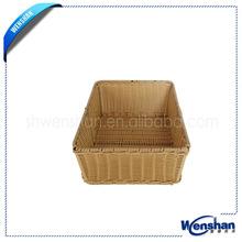 Sintéticas rectangular cesta de mimbre bandeja
