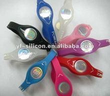 Popular customized energy balance silicone charm wrist bands